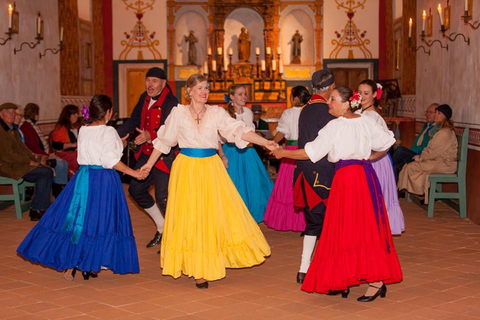 Dancing at Presidio de Santa Barbara with the Flor y Canto String Ensemble